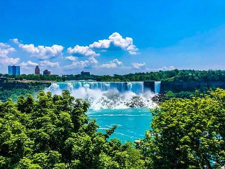 Niagara, Canada, Usa, Waterfalls, Nature, Outdoor