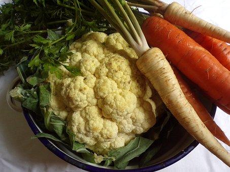 Vegetables, Carrot, Turnip, Cauliflower, Vegetarian