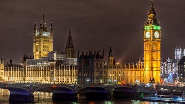 London, Big Ben, Bridge, City, Night, Tourism