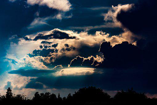 Sky, Clouds, Mood, Weather, Evening, Thunderstorm