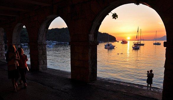Croatia, Cavtat, Marine, Water, Beach, Tourism, Summer