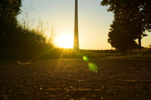 Sunset, Back Light, Mood, Dusk, Reflection, Road