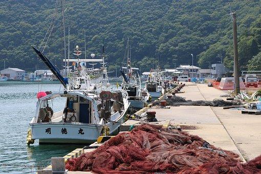 Tsushima, Views, Sea, Nostalgia, Ship, Fishing Boat