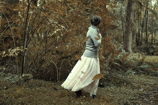 Girl, Forest, Sweater, Rain, Woman, Cold, Nature