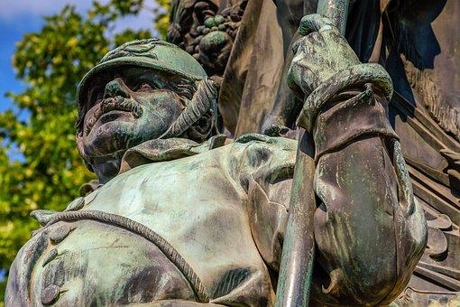 Statue, Soldier, Monument, Victory Monument, Freiburg