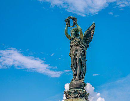 Statue, Goddess Of Victory, Laurel Wreath