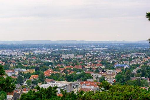 City, Top Look, Austria, Views, Horizon, Town, Panorama