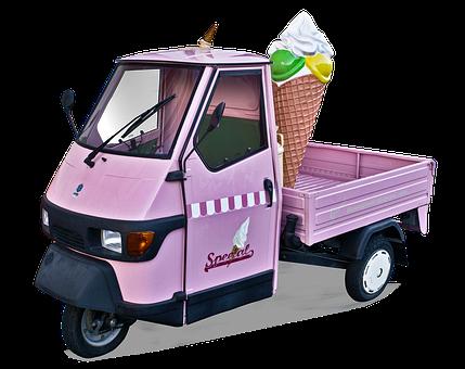 Ice Cream Cone, Ice Cream Van, Advertising Vehicle