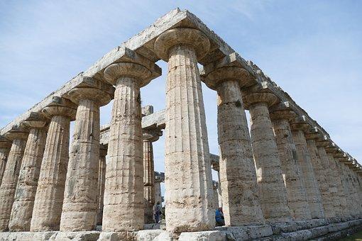 Paestum, Italy, Antiquity, Salerno, Architecture