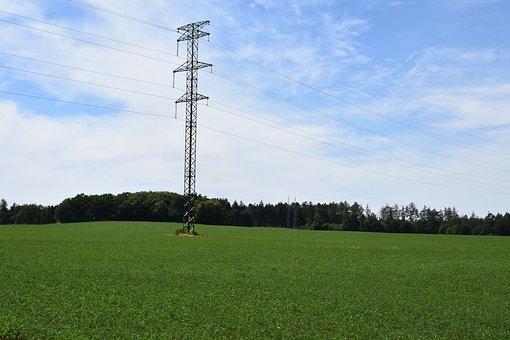 Landscape, Electrical Wiring, Sky, Czech Republic