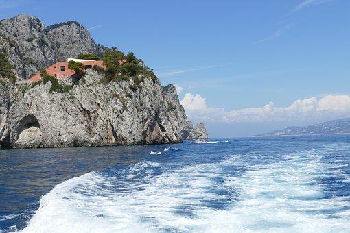 Capri, Italy, Coast, Mediterranean, Island, Holiday