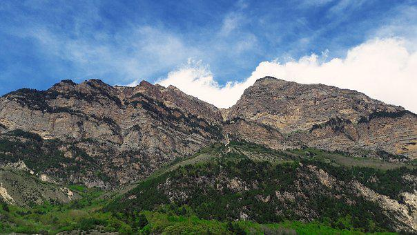 Nature, Mountains, Sky, Clouds, Rocks