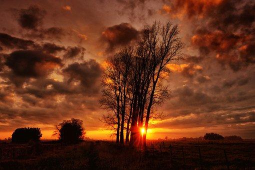 Landscape, Sunset, Nature, Afternoon, Sky, Twilight