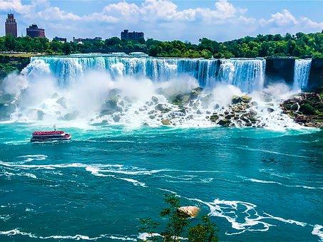 Niagara, Canada, Powerful, Usa, Landscape, Waterfalls