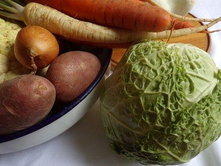 Vegetables, Kale, Murphy, Potato, Carrot, Turnip, Onion