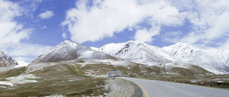 Khunjrab, Pass, National, Park, Pakistan, China, Border
