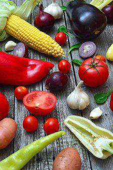 Vegetables, Pepper, Tomatoes, Red, Yellow, Green, Food