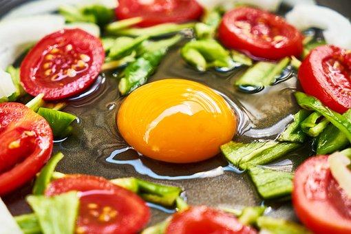 Egg, Yellow, Omelet, Menemen, Pepper, Onion, Vegetable