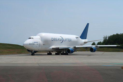 Plane, Dreamlifter, Boeing, Dreamliner, Aviation