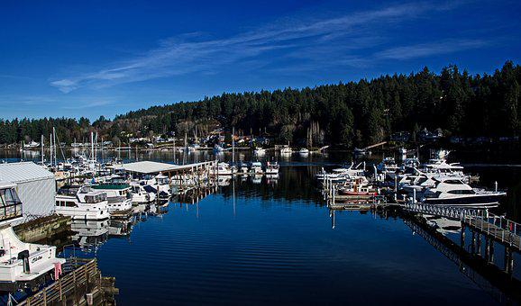 Gig Harbor Washington Usa, Port, Bay, Water