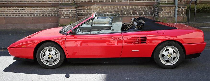 Auto, Ferrari, Sports Car, Racing Car, Speed, Red