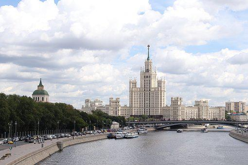 Quay, Moscow, High Rise Building, River