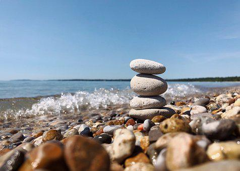 Rock Balancing, Rock, Balance, Stacked, Stones, Nature