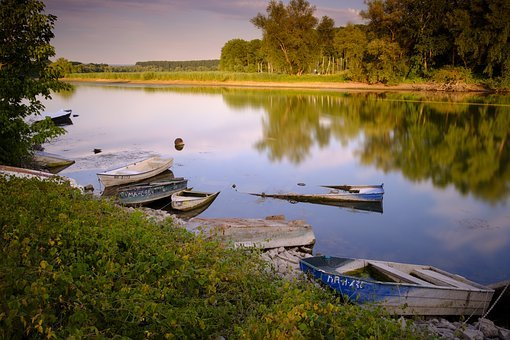 Boats, Rowing Boat, Lake, Water, River, Old, Passed