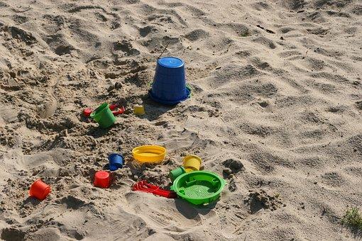 Playground, Sand Pit, Children, Play, Sand