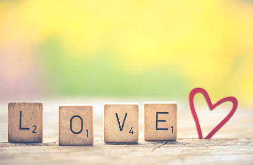 Love, Letters, Heart, Valentine, Scrabble, Affection