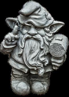 Figure, Dwarf, Gnome, Face, Ceramic, Sculpture
