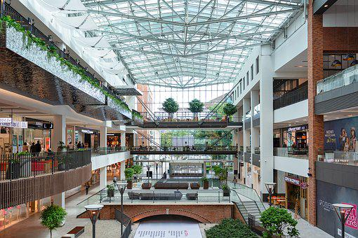 Shopping Mall, Shops, Shopping, Architecture, People