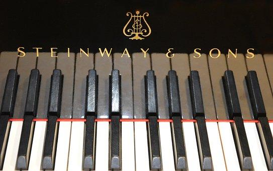Piano, Wing, Concert Flights, Steinway, Sons, Keyboard