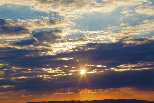 Clouds, Sky, Nature, Sunset, Horizon