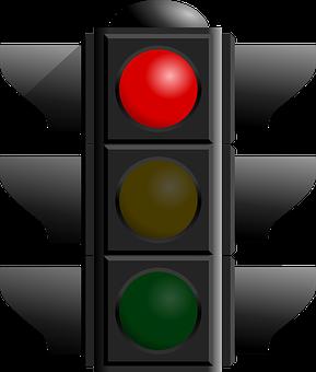 Red Light, Traffic, Light, Symbols, Signs, Stop, Road