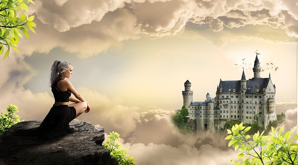 Girl, Castle, Woman, Girls, Fantasy, Tales, Mystic