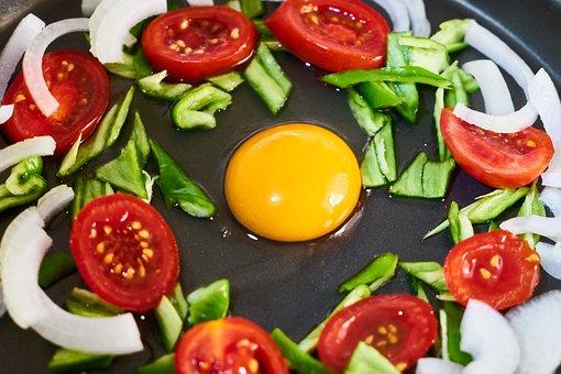 Egg, Vegetable, Tomato, Omelet, Onion, Macro, Healthy