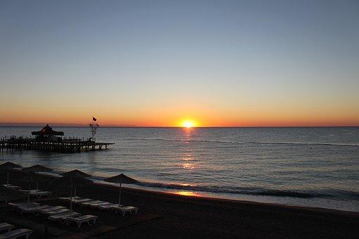 Sunrise, Sea, Ocean, Water, Sky, Beach, Summer, Holiday