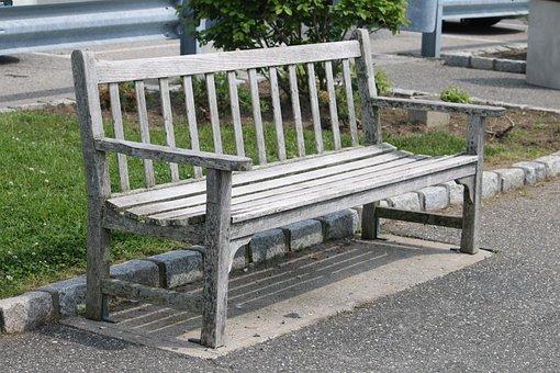 Bench, Wood, Summer, Alone, Blank