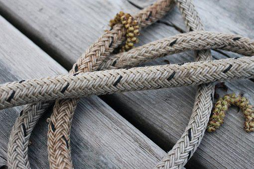 Rope, Wood, Dock, Closeup, Planks, Nautical, Knot, Cord