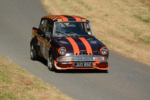 Ford, Anglia, Race Car, Competition, Speed, Hillclimb