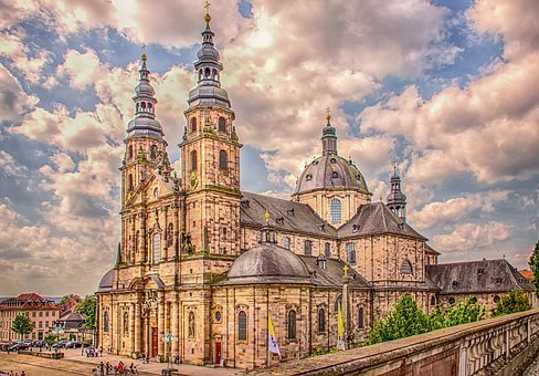 Architecture, Building, Dom, Fulda, Hesse, Church