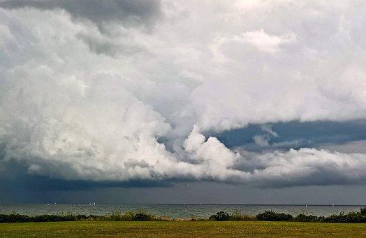 Baltic Sea, Beach, Sea, Storm, Thunderstorm, Forward