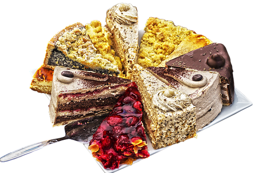 Birthday Cake, Pieces Of Cake, Pastries, Cake, Bake