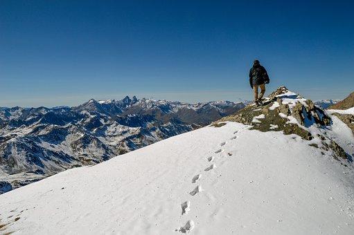 Success, Challenge, Mountain, Summit, Mount Tabor, Snow