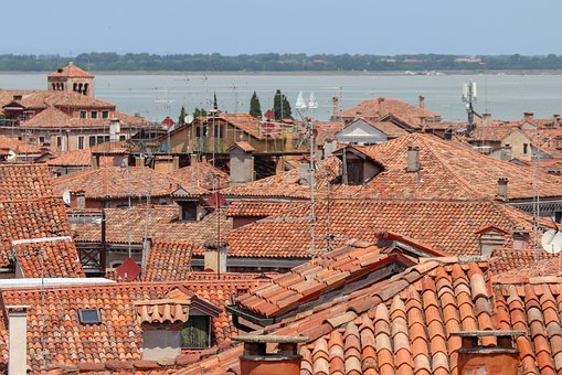 Sea Of Houses, Italy, Venice, Arrival, Channel, City