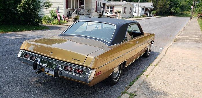 Dodge, Swinger, Classic Car, Gold, Classic, Vehicle