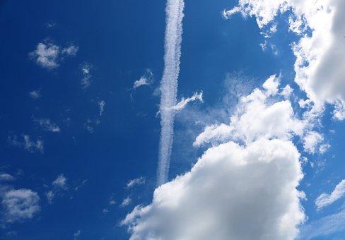 Contrail, Cloud, Contrails, Sky