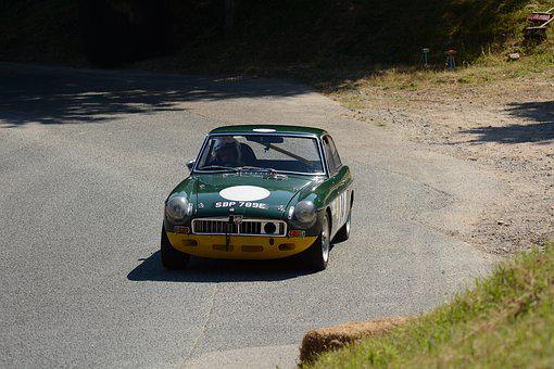 Mg, British Racing Green, Race Car, Competition, Speed