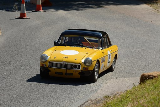 Mg, Yellow, Race Car, Competition, Speed, Hillclimb